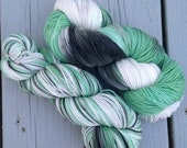 I'd Tell You But You Wouldn't Listen - NEW hand dyed superwash Merino super soft wool blend sock yarn 462 yards 100 grams