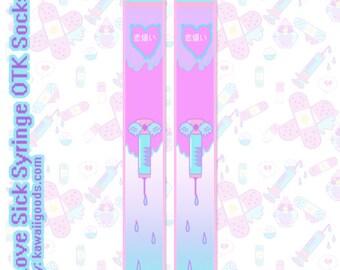 Love Sick Syringe OTK Socks