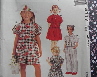 Christmas in July Vintage McCall's Girl's Top, Pants, Shorts and Skirt Pattern #8117 Uncut
