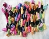 Variegated Embroidery Floss, Cross Stitch Floss, Cross Stitch Thread, Embroidery Thread, 13 Variegated Colors, By the Skein