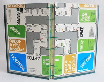 Careers Journal Recycled Game Board Book Upcycled Vintage Board Game by PrairiePeasant