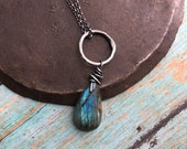 guidance. faceted labradorite necklace