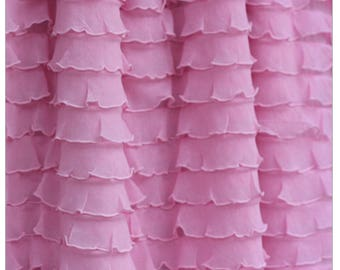 Pink Crib Skirt - Pink Ruffle Crib Skirt - Pink Long Crib Skirt - Baby Crib Skirt - Girl Crib Bedding - Baby Bed Skirt - Light Pink Bedskirt