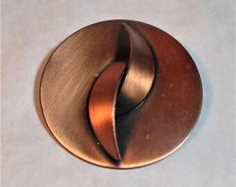 Vintage Copper Circle Brooch