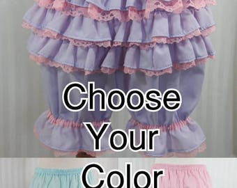 Choose Your Color fancy ruffle knee length bloomers fairy decora pop kei adult women
