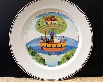 Laplau dinner plate, Villeroy and Boch Design Naif. VITRO porcelain. Noah's Ark.