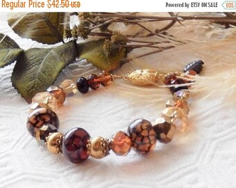 ChristmasInJulySALE..... Sale.......One of a Kind 18K Gold Vermeil, Crystal and Gemstone Bracelet