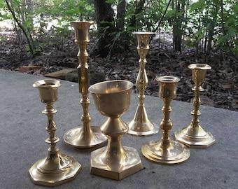 Brass Candlesticks brass candlesticks | etsy