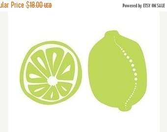 50% Off Summer Sale - Limes Art Print Kitchen Art - 8x10 Print - Lime Green Modern Contemporary