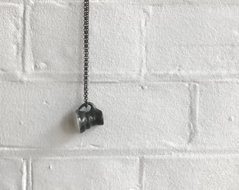 Mug Necklace: Glossy Black