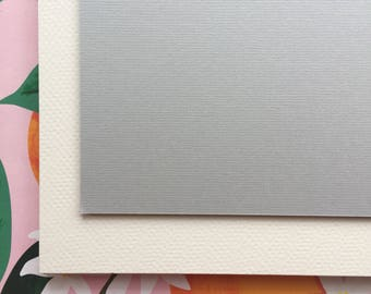 Cardstock Full Sheets / Cream Cover Stock / Texture Finish / Wedding Party Stationery DIY Paper Supplies