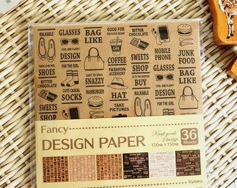 Kawaii Japanese Origami Paper - Kraft Goods