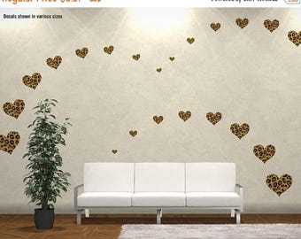 WEEKEND SALE Choose Size U0026 Qty: LEOPARD Print Hearts Reusable Wall Decal  Stickers   ( Part 24