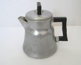 Vintage Aluminum Wear Ever Coffee Pot Percolator