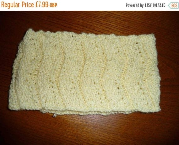Christmas In July Lovely Yellow Hand Knitted Headband
