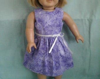 Purple Dragonfly Dress / Doll Clothes fits American Girl doll or other 18 inch doll