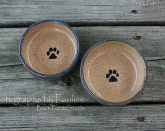 Extra Small Purple-Blue-Brown Hue Pet Dish