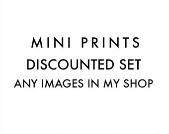 mini wall art set, mini print set, your choice, photography prints, LA photos, California photographs, beach prints, discounted set