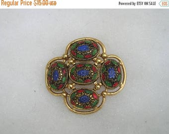 ON SALE Vintage Sarah Coventry Colorful Brooch Pin