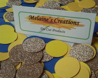 Beast confetti | Table decorations | 360 pieces | gold navy yellow goldenrod | Free shipping