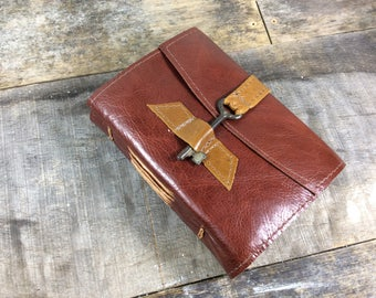 Two Tone Leather Journal with Key- MD
