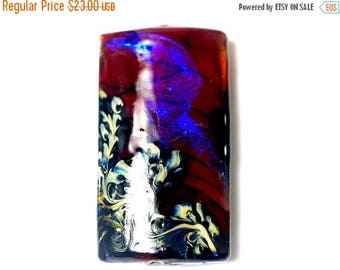 ON SALE 30% off Violet Shimmer Kalera Focal Bead 11836103 - Handmade Glass Lampwork Beads