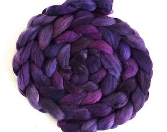 Violet Night, Pre-Order Merino Wool Roving Superfine - Hand Dyed Spinning or Felting Fiber