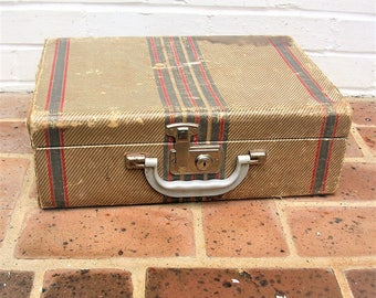 Antique Vintage Small Suitcase Vintage Travel Case Vintage Luggage Train Case