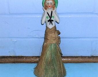 Antique Vintage Whisk Broom Antique Vintage Porcelain Doll Whisk Broom Made In Japan
