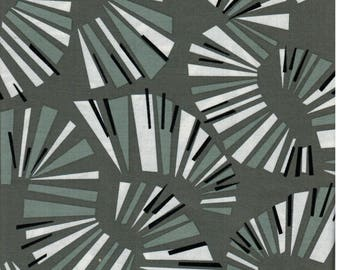 Sale! 1 yard Jane Dixon Poppy Modern Andover Fabrics Grey Line Swirls