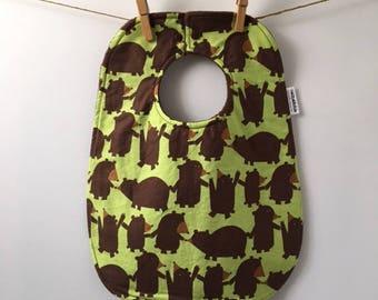Bear Baby Gift - Brown Bears Bib - Boy Baby Shower Gift - Toddler Bib - Bibs with Snaps - Big Baby Bib