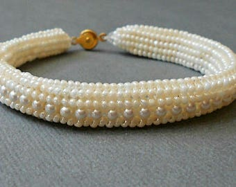 wedding beaded bracelet