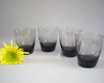 Roly Poly Glasses, Low Ball Glasses, Low Ball Glasses, Smoky Whiskey Glasses, Vintage Bar Ware, Foodie Gift, Vintage Glassware