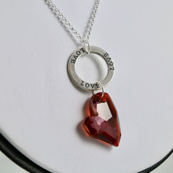 Love's Infinity Necklace - Red Magma
