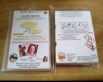 Sherbet Lemon Sweets Scented Soy Wax Melts Pack