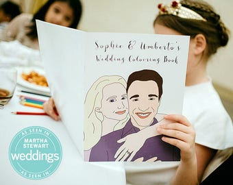 custom wedding coloring book adult coloring book personalized wedding activity wedding favor - Personalized Wedding Coloring Book