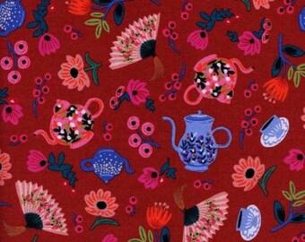 ON SALE Garden Party Crimson Red - Wonderland - Anna Bond Rifle Paper Co - Cotton + Steel - 8019-02