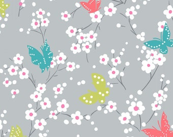 Butterfly Blossom Cloud - Project Dovetail - Michael Miller Fabrics - 100% Quilters Cotton DC7081-CLOUD