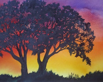 Sunset Lace III an original watercolor