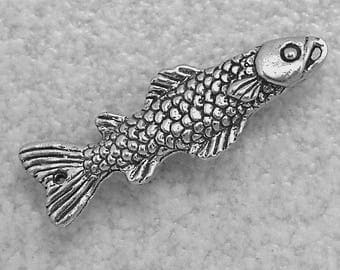 20% OFF COUPON SALE~Green Girl Studios Pewter Fish Link