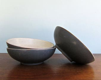 Echo Blue Berry Bowls by Denby Langley Stoneware, Made in England, 3 Available