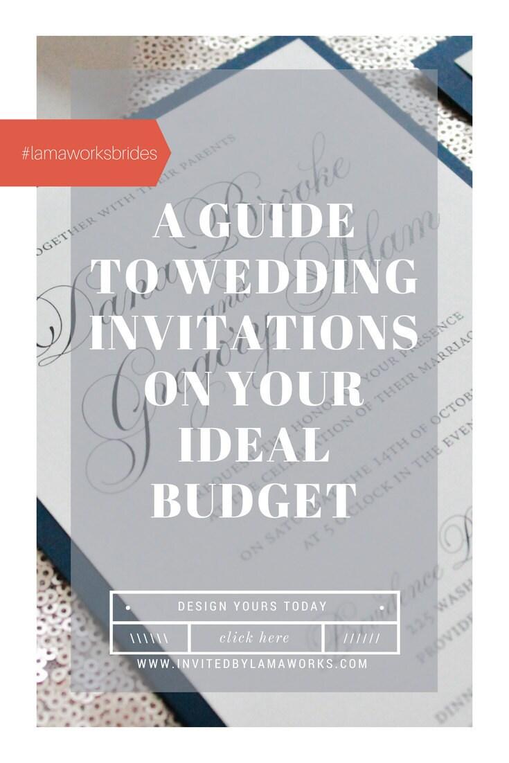 wedding invitations on a budget
