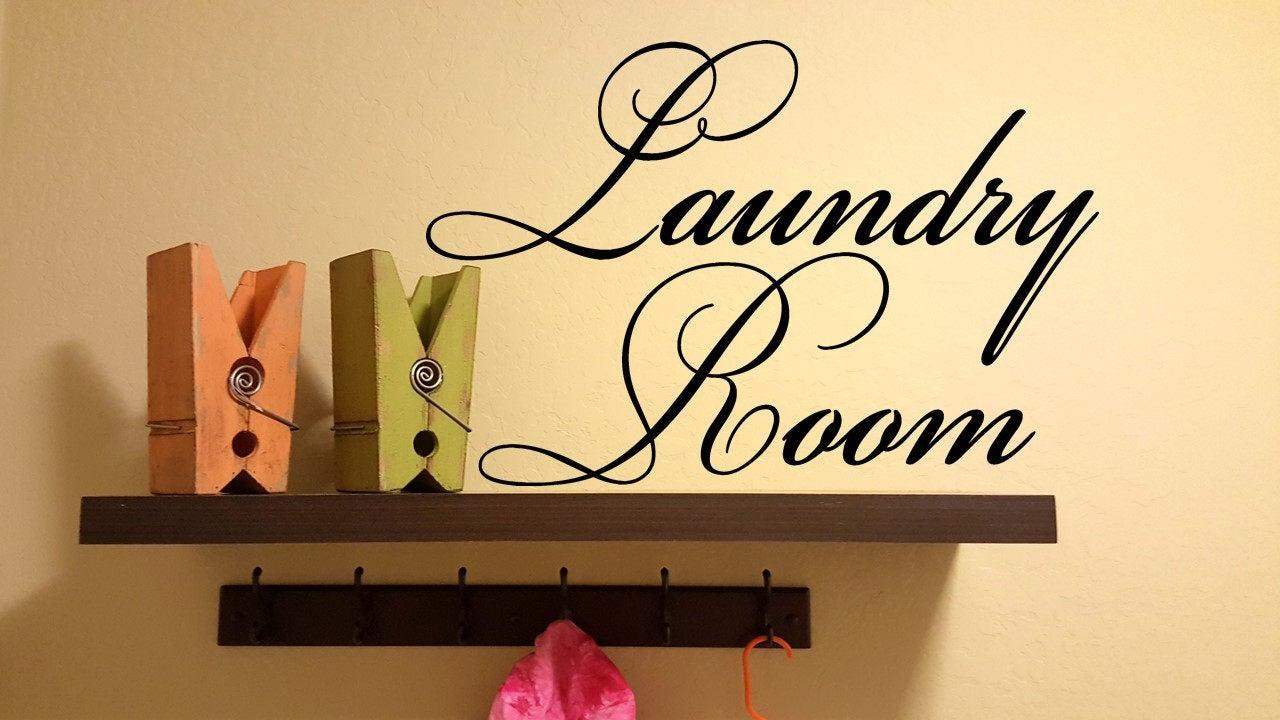 Laundry Room Wall Decal / Laundry Room Decor / Laundry Room Wall ...
