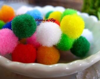 sale Assorted Colors Mini Pom pompons-Tassels poms/Handmade Ethnic Pom poms Charms Decorative tassels DIY Jewelry charm tassel-Kids Parties
