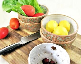 Pottery bowl set, Noodle bowls, Soup bowls, Ice cream bowls, Set of 2 Stoneware bowls - In stock