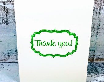 Thank you card, greeting cards, shower cards, wedding thank you card, thank you card set, thank you notes