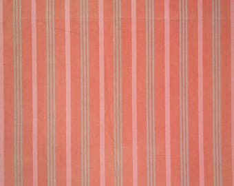 French vintage cotton ticking fabric