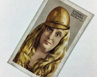 Collector Trading Card with Sydney Howard, Gallaher Cigarette Card 1935