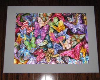 NEW 3D Lenticular BUTTERFLIES puzzle art on canvas frame