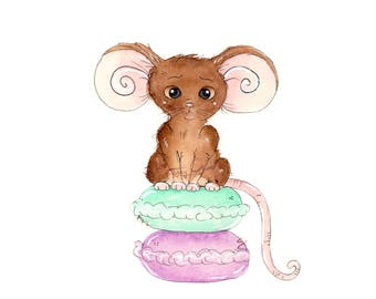 Macaroon Mouse Fine Art Print